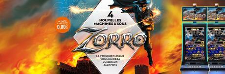 Zorro arrive en exclusivité dans tous les Casinos Barrière !
