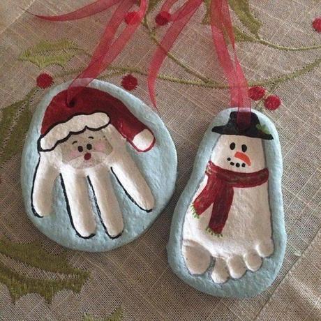 Voici comment fabriquer un père Noël et un bonhomme de neige en pâte de sel