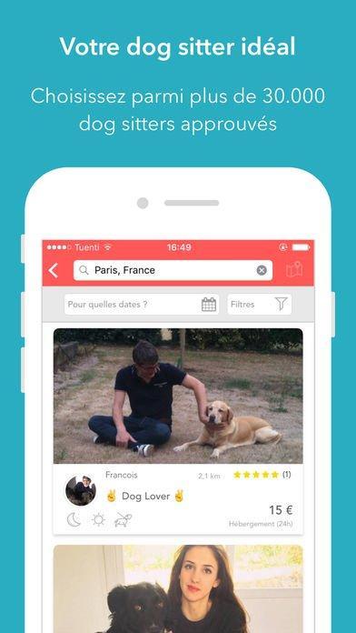 DogBuddy : l'app iPhone idéale pour trouver un dog sitter