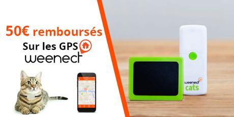 Offre de remboursement : 50€ pour votre collier GPS Weenect pour animaux !