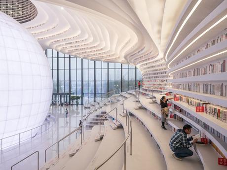 Cette bibliothèque futuriste renferme 1,2 million de livres!