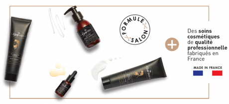 Une jolie gamme de soins cosmétiques pour prendre soin de sa barbe au quotidiennement avec un huile, un baume après-rasage, un savon à barbe et un shampoing à barbe