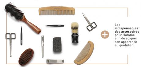 Franck Provost a pensé à tous en proposant également une gamme d'accessoire pour le brossage de la barbe et les finitions minutieuses aux ciseaux et à la pince à épiler
