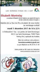 Les Rendez-vous de l'ART-  exposition Elisabeth MONTRELAY à partir du 6 Décembre 2017 – Châteauform'City