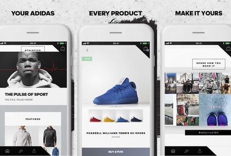 Focus sur la nouvelle application shopping d'Adidas qui s'adapte à vos préférences