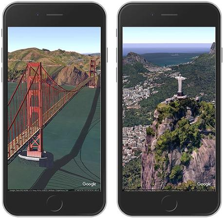 Google Earth s'adapte à l'écran de l'iPhone X et iOS 11