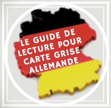 Guide pour carte grise allemande