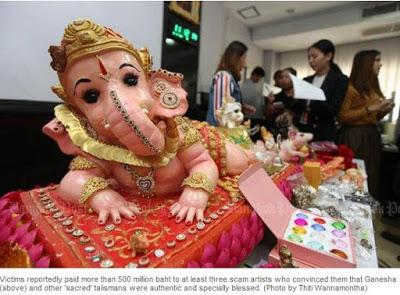 Thaïlande: Ganesha, ses souris porte bonheur et les escrocs