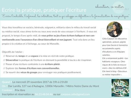 Un nouvel atelier d'écriture à Marseille !