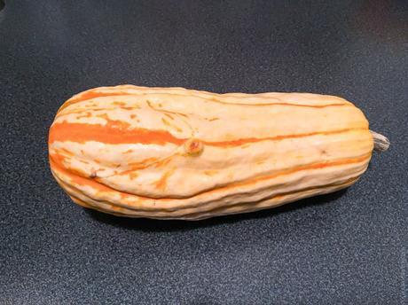 Délicate et lardons – Courge « delicata » farcie