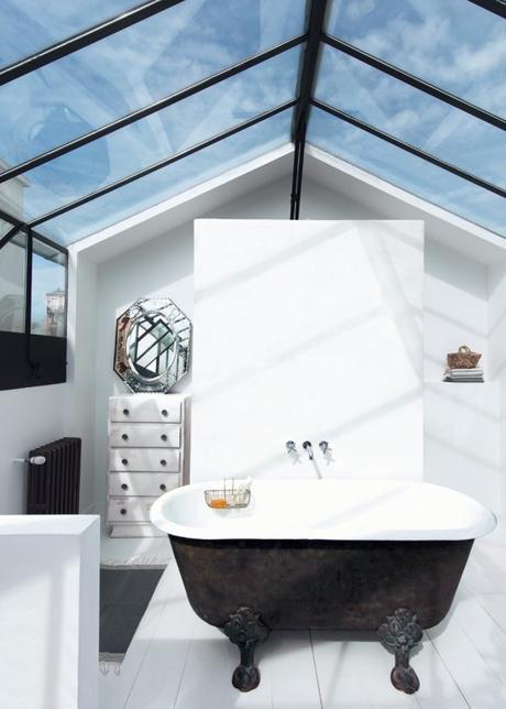 salle de bain veranda decoration industrielle