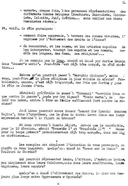 Lettres de Don Helder Camara à Roger Garaudy (2) - 1973