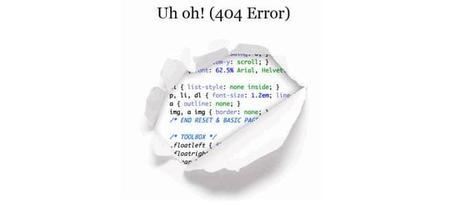 Fléau du référencement, l'erreur 404
