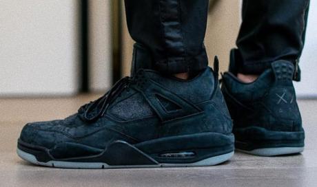 Kaws x Air Jordan 4 Black