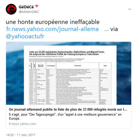 l' Europe, ce monstre inhumaniste