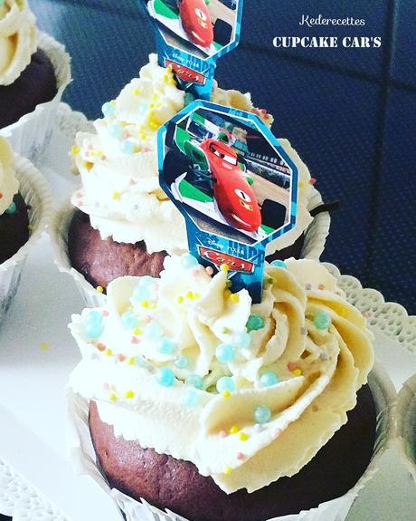 Cupcakes chocolat Car's