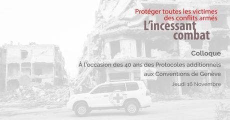 Communiqué de presse : «Protéger toutes les victimes des conflits armés : l'incessant combat»