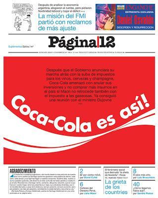 Chantage à la fiscalité de la part de Coca Cola [Actu]