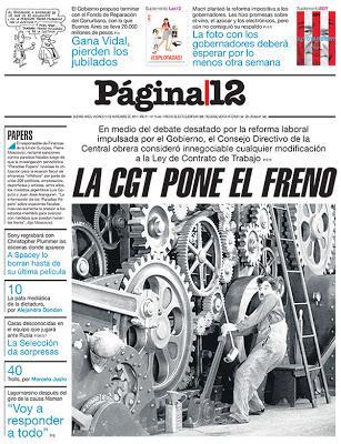 Página/12 met les points sur les i, toujours avec Chaplin! [Actu]