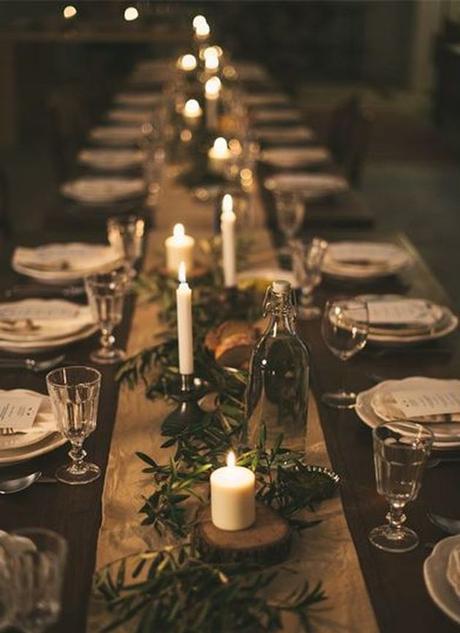 mariage theme hiver table bois rustique