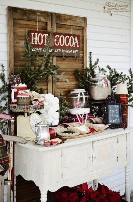 mariage theme hiver chocolat chaud