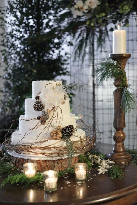 mariage theme hiver cadre photo