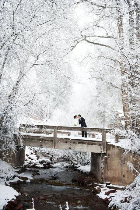 mariage theme hiver photo romantique
