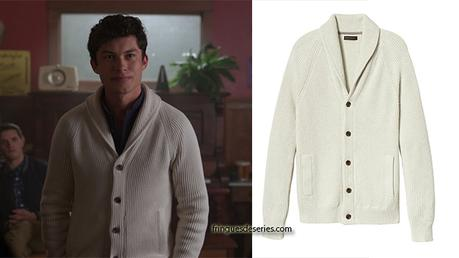 RIVERDALE : Great shawl-collar cardigan for Nick St-Clair in s2ep05
