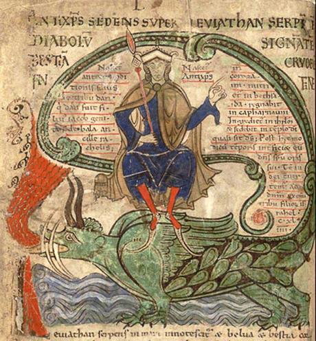 dragon,-mythologie,-christianisme,-iconographie