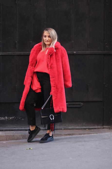 Red Faux Fur