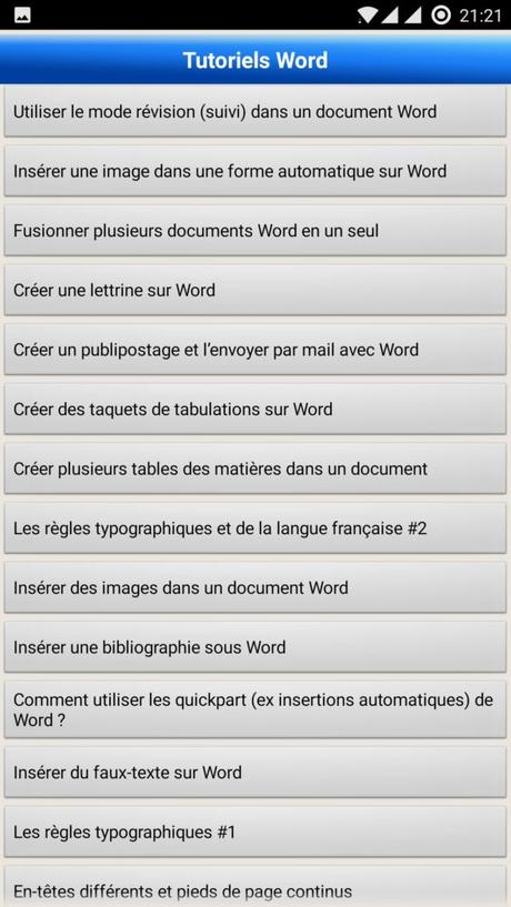 Application Android : Votre Assistante – Tutoriels Office et Adobe