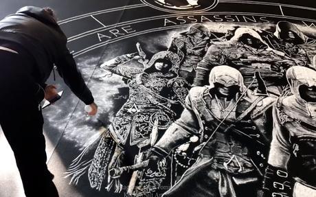 Une fresque géante en sel pour les 10 ans d'Assassin's Creed
