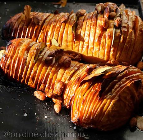 Courge butternut façon Hasselback