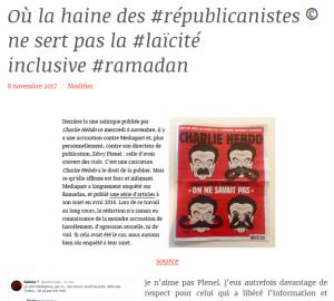 la convergence des luttes racistes, ça existe. Démonstration  #Fdesouche #PrintRep #ForcesLaïques #Valls #republicanistes