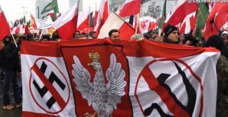 Marsz Niepodległości : les cathos /natios, WTF ! #antifa #NoNazis #Pologne