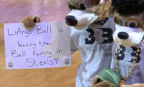 Quand la mascotte des Bucks se paie LiAngelo Ball
