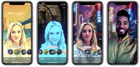 Clips propose des selfies immersifs à 360° sur iPhone X