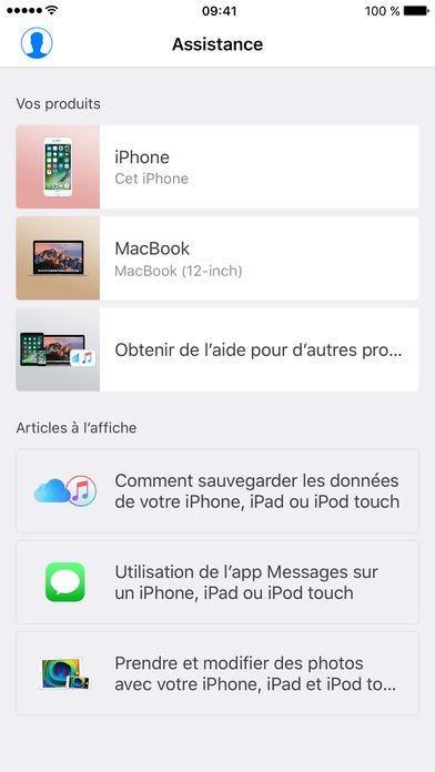 App du jour : Assistance Apple (iPhone & iPad)