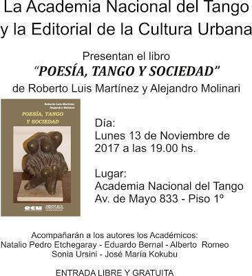 Présentation du nouvel ouvrage du duo Martínez-Molinari à la Academia Nacional del Tango [Disques & Livres]