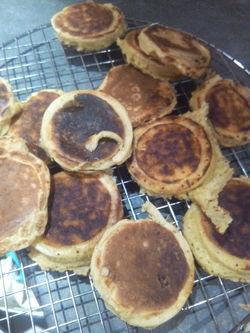 Minis pancakes au parmesan