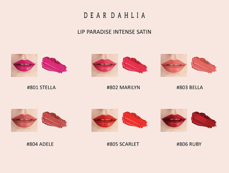 Korean Make-Up - Dear Dahlia - Lip Paradise Intense Satin