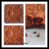 Brownie aux noisettes au thermomix ou sans - La cuisine de poupoule