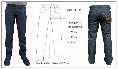 Les longueurs d'entrejambe sur le jean doublé Verdury