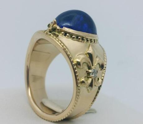 vue anneau interne bague tanzanite