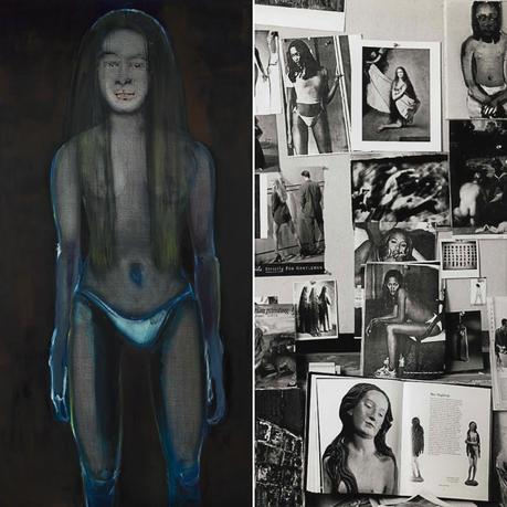marlene-dumas, Magdalena, Underwear and Bedtime Stories, 1953, painting, auction, sothebys-2