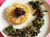 Epinards graines sarrasin échalotes confites (Vegan)
