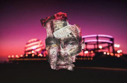 Visages sur déchets par Philippe Echaroux