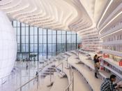 promenade nouvelle bibliothèque pour ville Tianjin Binhai Chine