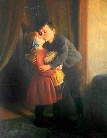 Tradition du baiser sous le gui par Karl Witkowski
