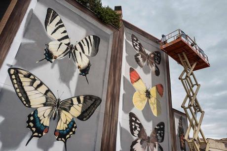 Des papillons géants envahissent la ville grâce à l'artiste Mantra